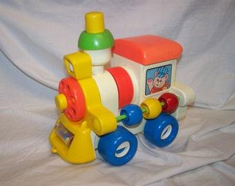 Vintage 1982 Busy Choo-Choo by Child Guidance CBS toys choo choo