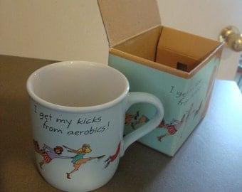 80's Aerobics Mug in Original Box!
