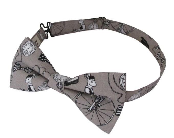Gentlemens Club Stone Design Adjustable Bow Tie