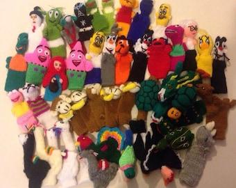 Character Peruvian Finger Puppets