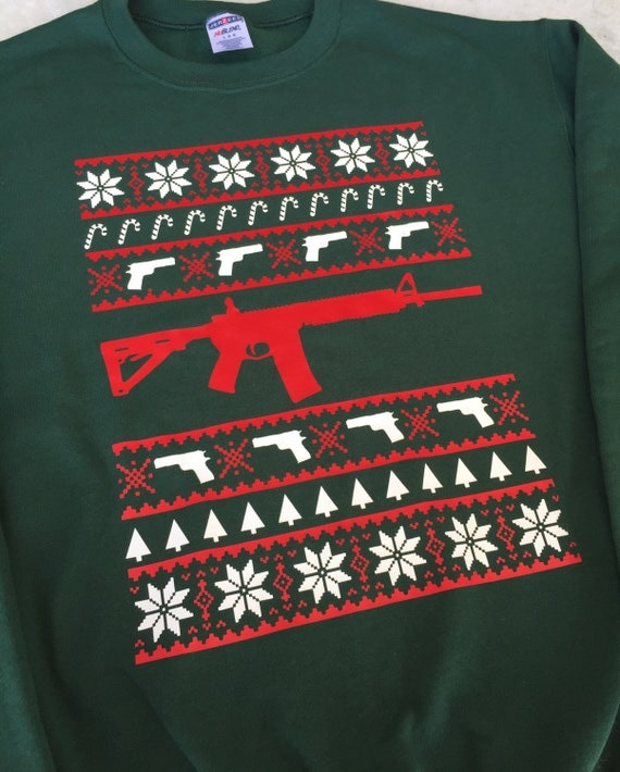 Ugly Christmas Sweater ugly gun sweater ar ar-15 funny