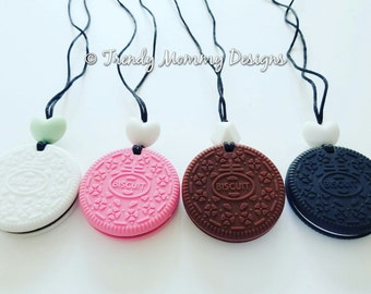 Silicone Cookie / Biscuit Teething Necklace for Mommy! BPA, lead, metal free, Great Baby Shower Gift!