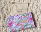 Watercolor Floral Super Soft Stretch Jersey Swaddle Receiving Infant Blanket