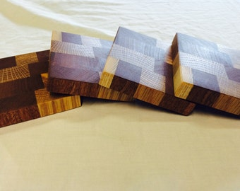 Mixed woods drink coasters