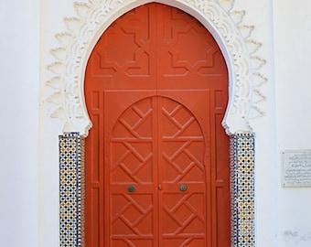 Red Moroccan Door Print