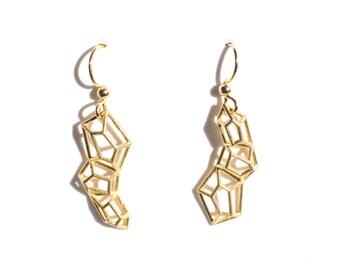 Gem geometric earrings