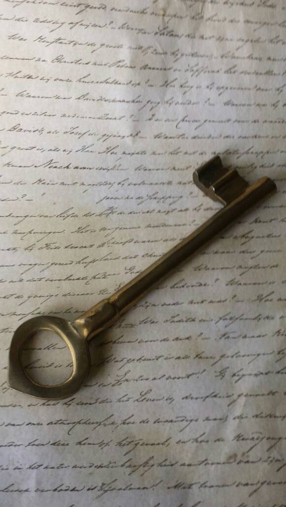 Home decor large brass skeleton key brass by for Brass home decor