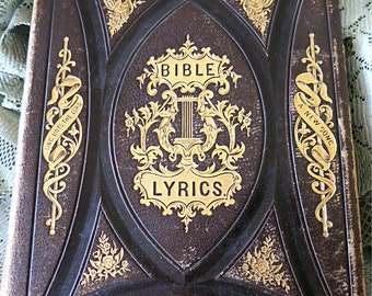 Antique Bible Hymn Book Antique Bible Lyrics 1869 Religious Book 1869 Christian Book 1869 Psalm Book 1869 Hymn Book Book Of Job