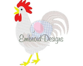 Rooster Machine Embroidery Design 041314 Filled stitch 4X4 5X7 8X8 6X10 Instant download