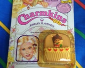 Vintage 1984 Charmkins SWEET BETH miniature doll 1980s Hasbro kids hair comb charm toy MoC mint rare Factory Sealed lilac scented new htf