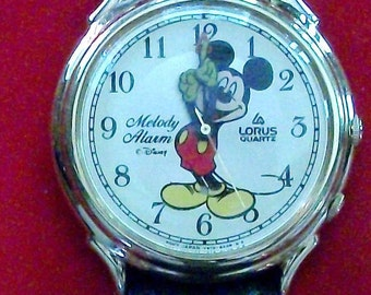 Disney LORUS Chime ALARM Disney Mickey Mouse Watch! Retired! Impossible to Find!
