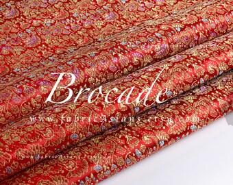 Red Gold brocade. Traditional Brocade