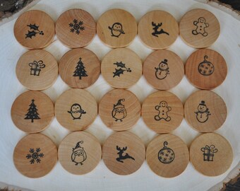 Christmas Wooden Matching Game – A Montessori and Waldorf Inspired Toy and Stocking Stuffer
