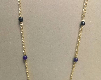 Amethyst Chain Necklace