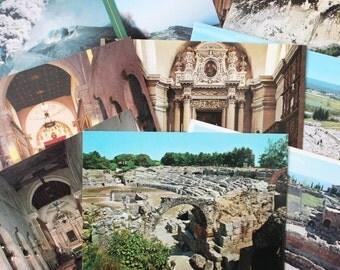 Vintage Sicily Color Postcards 1990s 10 Views Collectables Crafts Collage Scrapbooking Cardmaking Supplies