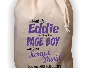 Personalised Page Boy Gift Bag - Various Sizes Available Eddie Design