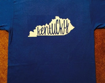 Long Sleeve - Kentucky with word - Glitter
