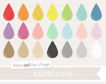 Raindrops clipart – Etsy