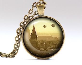 Paris pendant France chain Travel necklace RO665