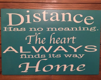 The Heart Always Finds Its Way Home Sign