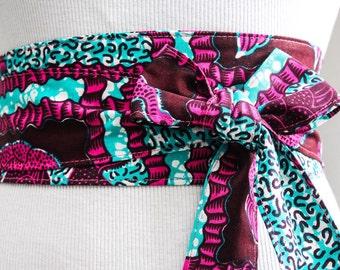 African Print Obi Belt l Wax Print Corset Belt |Ankara Print Belt | Wax Print Sash Belt | Plus size belts| African Print waist belt