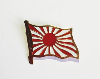 Japanese flag WWII pin