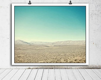Desert photo, Nature photography, Utah landscape, Utah photo, desert, blue skies, blue, nature decor, home decor, mountain photography