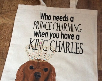"Cavalier bag ""who needs a prince charming"""