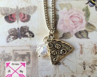 Pizza slice necklace, Pizza necklace, Pizza Jewellery, Pizza Jewelry,