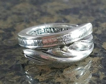 Very ornate  designed spoon ring R188