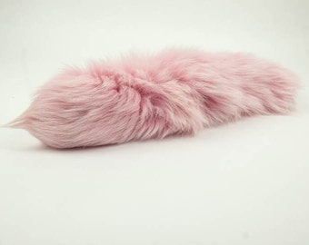 One premium dyed Fox tail : Baby Pink