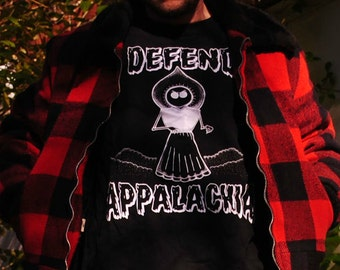 Flatwoods Monster Defend Appalachia Glow in the Dark T Shirt