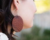 Large Lacewood Circle Earrings