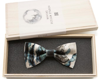 Abstract Marble Bowtie - Modern Boys Bowtie, Toddler Bowtie Toddler Bow tie, Groomsmen bow tie, Pre Tied and AdjustableNovioshk, H0255