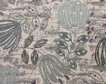 FABRIC SALE!!! Aqua, Purple And Green Modern Floral Upholstery Fabric - Upholstery Fabric By The Yard - Home Decor
