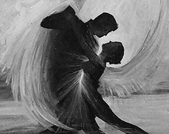 Dancing Angels Art Print // Gallery Quality Giclée Print // Tony Rector Art // 12 x 16 Acrylic Giclee Art Print