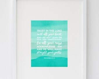 Trust in the Lord Teal Print