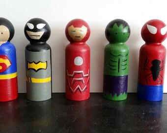 Super Hero Peg Dolls