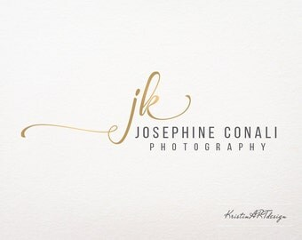 Gold logo- Initials logo - Photography Logo - Customized for ANY business logo - Premade Photography Logos- Watermark 250
