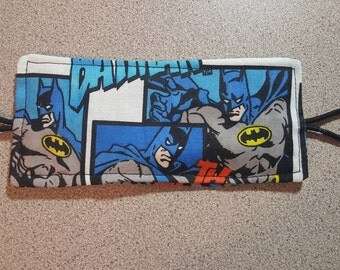 Nursery Door Muff Silencer Jammer Latch Cover / Batman Superhero Comic Book / Baby Boy Shower Gift