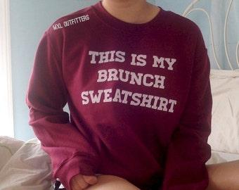Maroon Brunch Crewneck Sweater