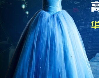 Cinderella 2015 Movie Dress, Cinderella Costume, Cinderella Cosplay Costume