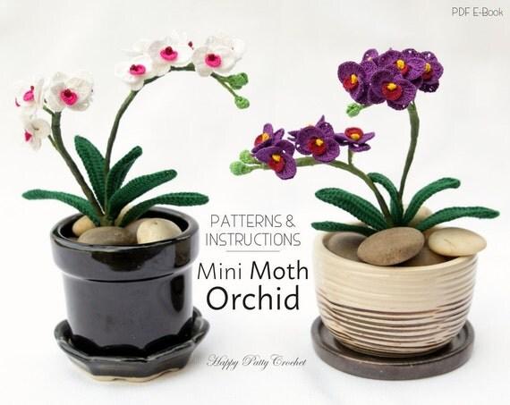 Mini Crochet Orchid Pattern Crochet Flower Decoration Easy
