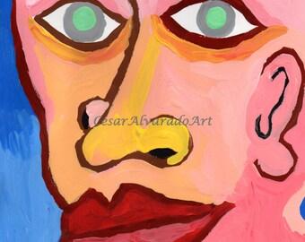 Original Painting/OUTSIDER ART/ Head I (2015)