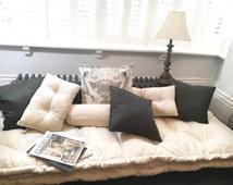 Handmade Quilted Cushion mattress,Tufted cushion, Futon cushion, Knotting pillow quilt, French cushion mattress, pet cushion , floor cushion