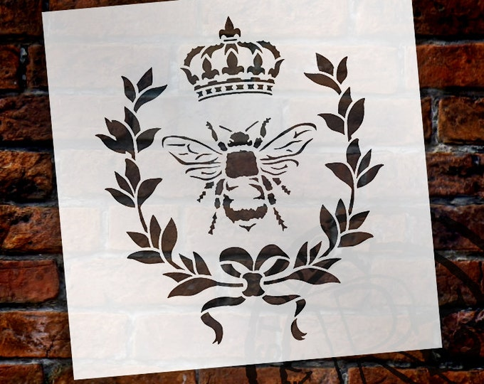 Featured listing image: French Bee Art Stencil by StudioR12 - Select Size - STCL917 - by StudioR12