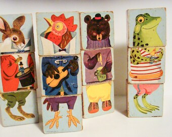 Vintage Picture Building Blocks