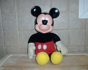 Vintage Mickey Mouse plush doll