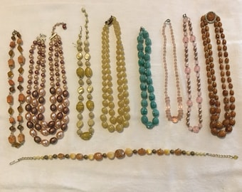 A Collection of Classic Costume Necklaces - Vintage Jewelry