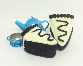 Play Food Crochet Chocolate Cake, Gift, Amigurumi